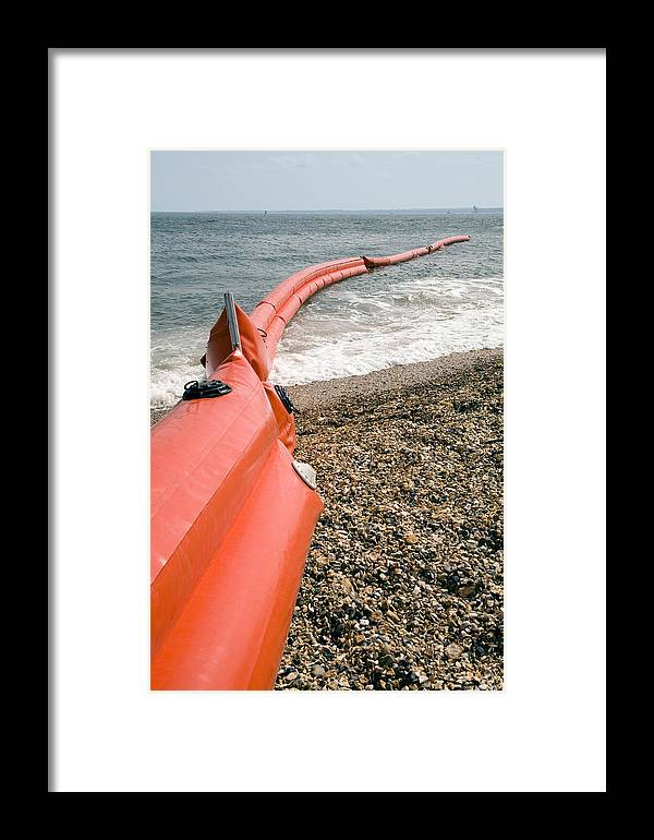 Inflatable Framed Print featuring the photograph Pollution Control by Paul Rapson