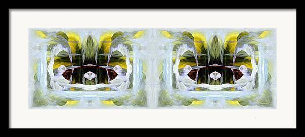 Abstract Framed Print featuring the digital art Pond In Fairyland by Joe Halinar