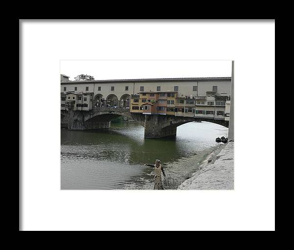 Arno River Framed Print featuring the photograph Ponte Vecchio by Laurel Best