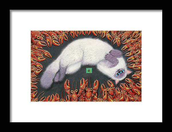 Cat Framed Print featuring the painting Poobles In Cajunland by Baron Dixon