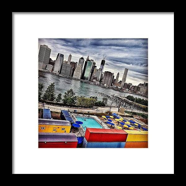 Summer Framed Print featuring the photograph Pool Time - New York by Joel Lopez