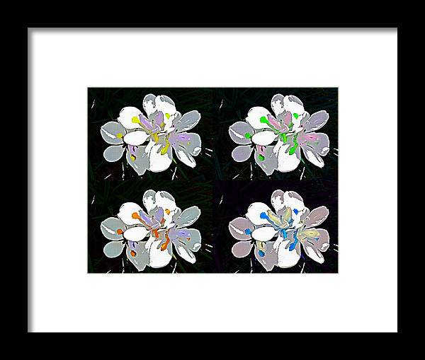 Iris Pop Art Flowers Floral Abstract Framed Print featuring the photograph Pop Art Iris by Alice Gipson
