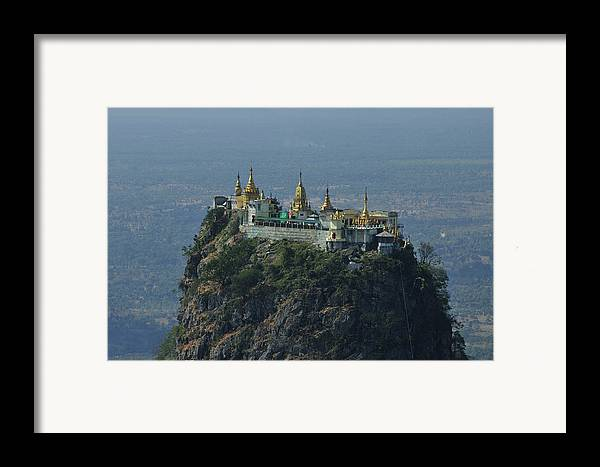 Horizontal Framed Print featuring the photograph Popa Mountain Top Temple by Huang Xin