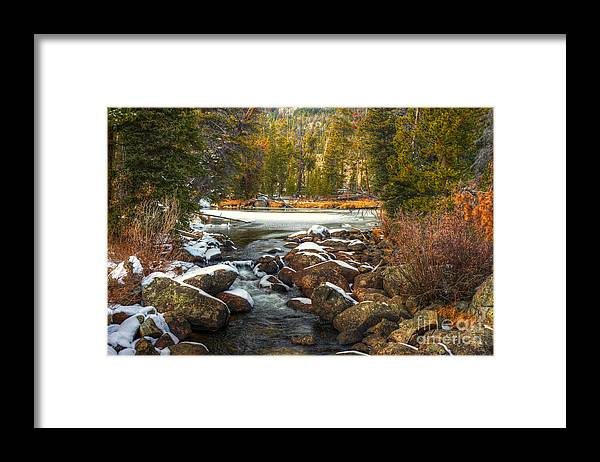 Places Framed Print featuring the photograph Popo Agie River in Autumn by Dennis Hammer