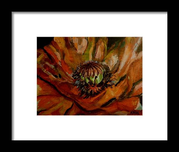 Poppy Framed Print featuring the painting Poppy by MayLill Tomlin