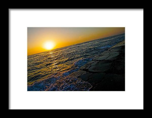 Port Framed Print featuring the photograph Port Aransas Sunrise by Snow White