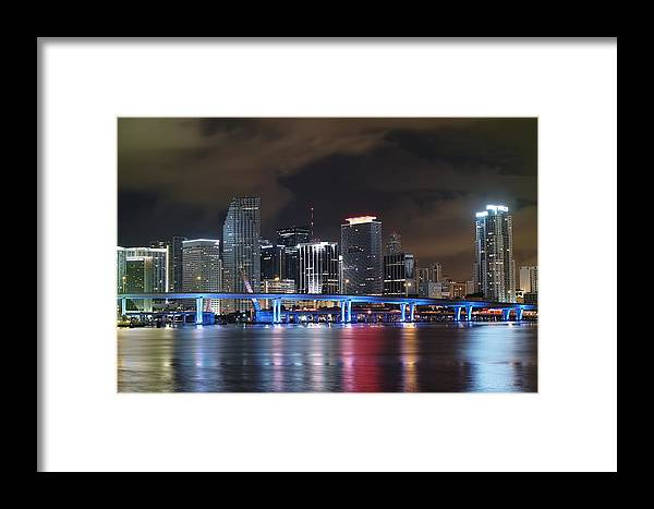 Art Framed Print featuring the photograph Port Of Miami Downtown by Gary Dean Mercer Clark