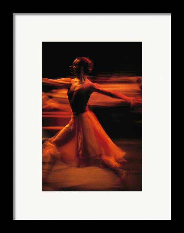 Africa Framed Print featuring the photograph Portrait Of A Ballet Dancer Bathed by Michael Nichols