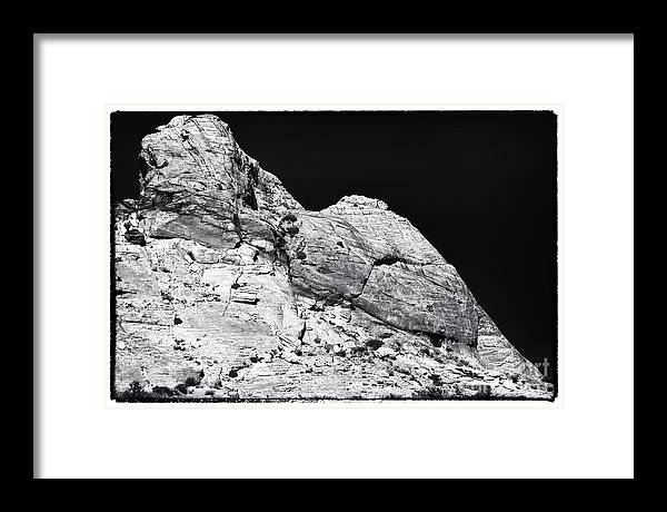 Portrait Of A Rock Framed Print featuring the photograph Portrait of a Rock by John Rizzuto