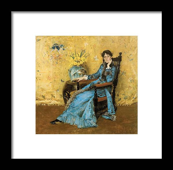 William Merritt Chase Framed Print featuring the painting Portrait Of Miss Dora Wheeler by William Merritt Chase