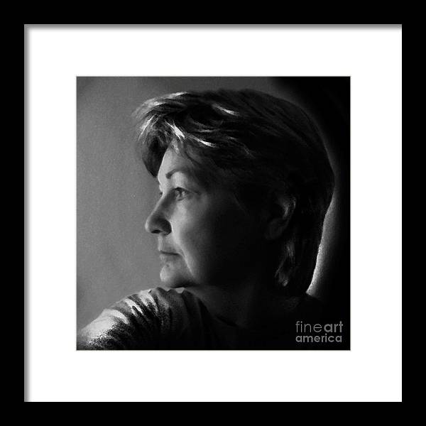Framed Print featuring the digital art Self Portrait by Dale  Ford