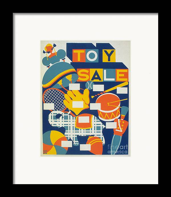 1940 Framed Print featuring the photograph Poster: Toys, C1940 by Granger