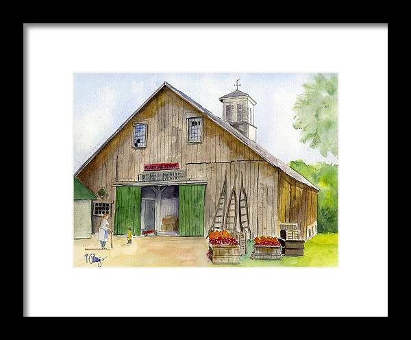Landscape Framed Print featuring the painting Poverty Farms Orchard by Paul Cummings