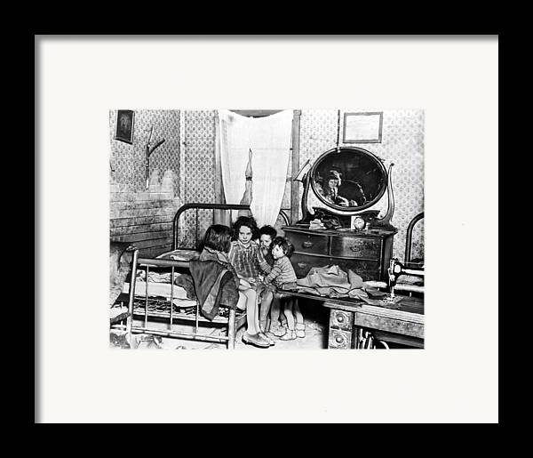 1920s Framed Print featuring the photograph Poverty Stricken Children In A Rural by Everett