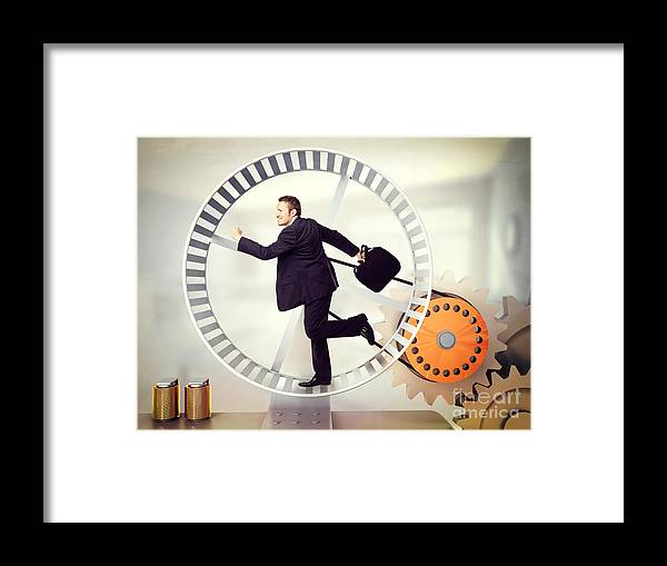 Hamster Framed Print featuring the photograph Power Generator by Gualtiero Boffi