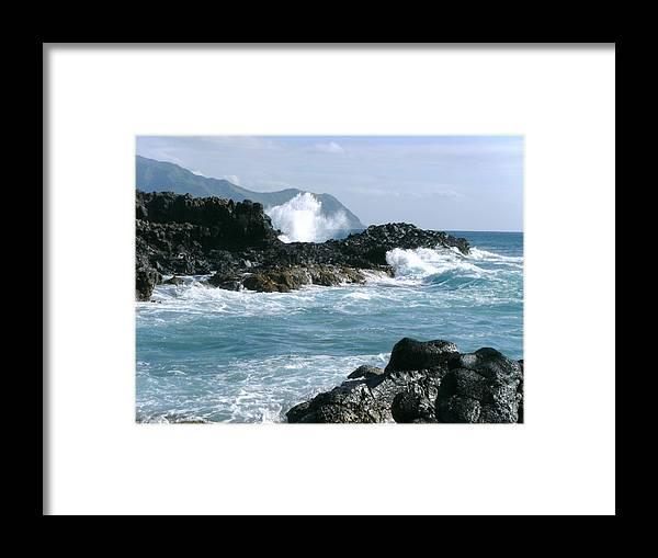 Elaine Haakenson Framed Print featuring the photograph Power Of The Ocean by Elaine Haakenson