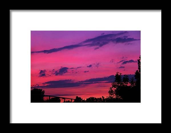 Prague Framed Print featuring the photograph Prague Sunset by Mariola Bitner