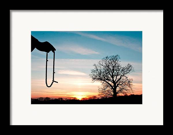 Art Framed Print featuring the photograph Prayer Beads by Tom Gowanlock