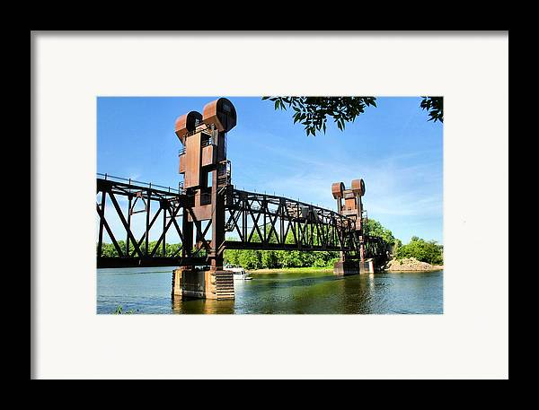 Prescott Framed Print featuring the photograph Prescott Lift Bridge by Kristin Elmquist