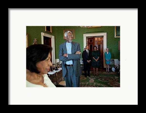 History Framed Print featuring the photograph President And First Lady Michelle Obama by Everett