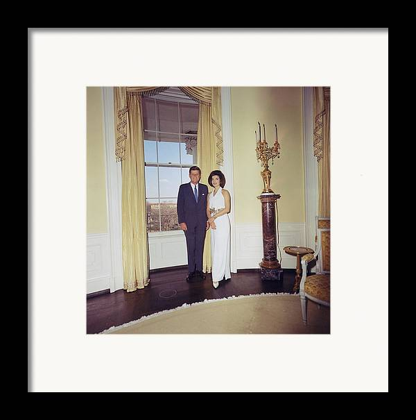 History Framed Print featuring the photograph President And Jacqueline Kennedy by Everett