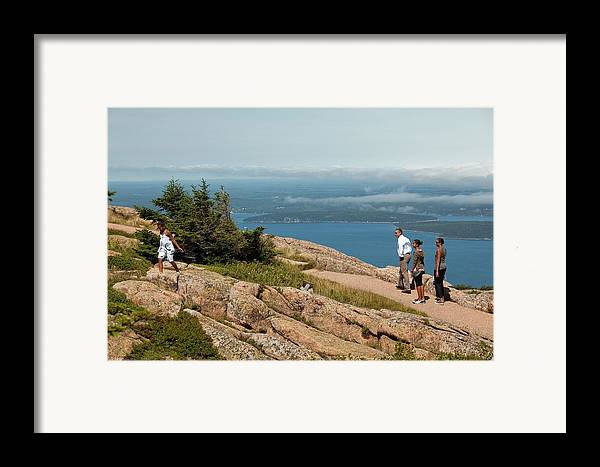History Framed Print featuring the photograph President Barack Obama And His Family by Everett
