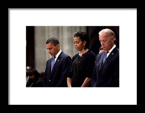 History Framed Print featuring the photograph President Barack Obama First Lady by Everett