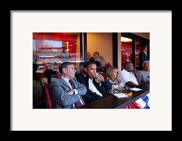 History Framed Print featuring the photograph President Barack Obama Watches The 2009 by Everett