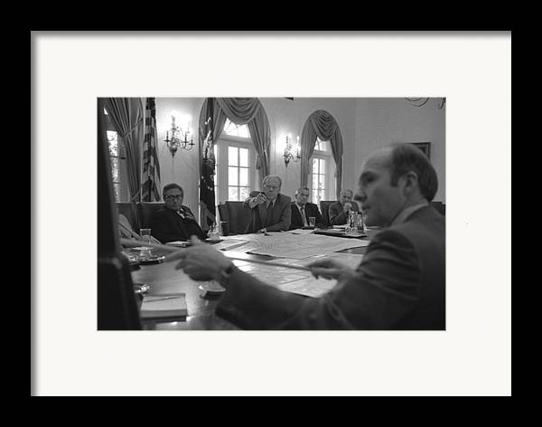 History Framed Print featuring the photograph President Gerald Ford And National by Everett