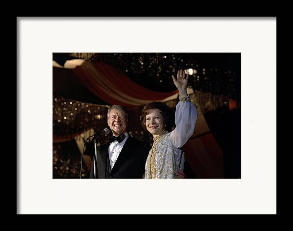 1970s Candids Framed Print featuring the photograph President Jimmy Carter And First Lady by Everett