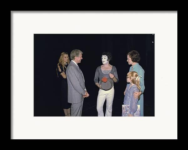 History Framed Print featuring the photograph President Jimmy Carter Rosalynn Carter by Everett