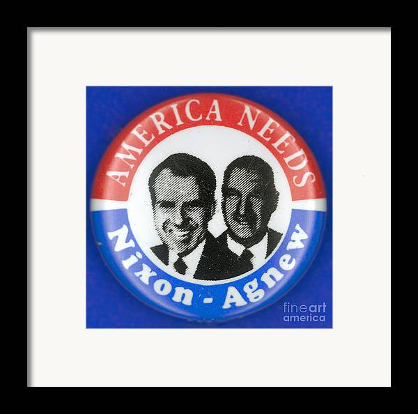 1972 Framed Print featuring the photograph Presidential Campaign:1972 by Granger