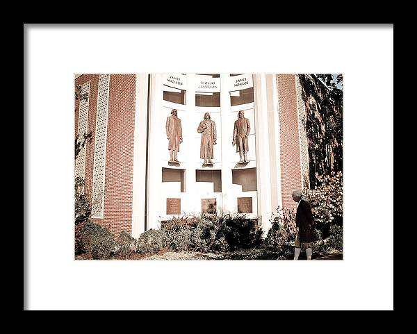 Virginia Framed Print featuring the photograph Presidents Of Charlottesville Va by Swift Family