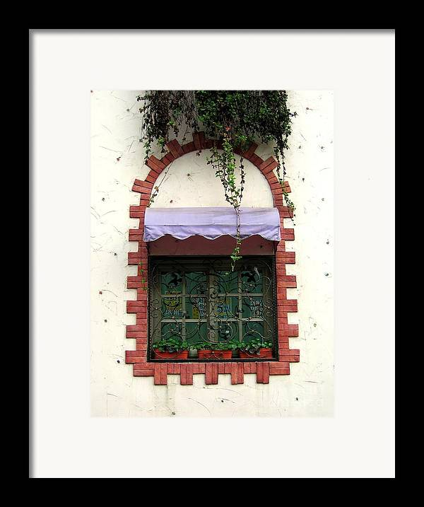 Window Framed Print featuring the photograph Pretty Decorated Window by Yali Shi