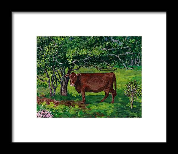 Nature Framed Print featuring the painting Pretty In Green by Patty Fleckenstein