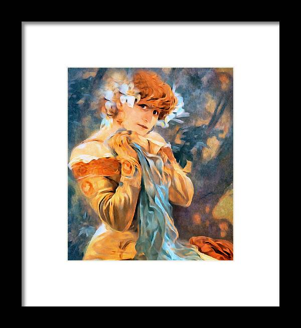 Girl Framed Print featuring the painting Pretty Woman by Georgiana Romanovna