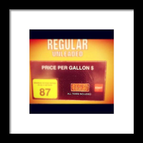 Fortworth Framed Print featuring the photograph Price Of Gas In Fossil Creek Area Of by Nick Dean
