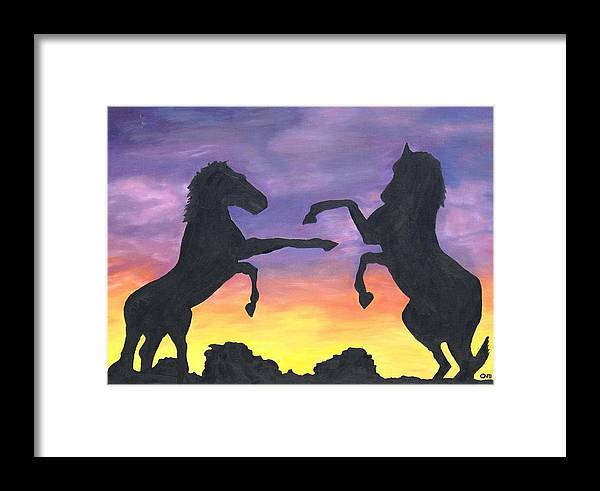 Landscape Framed Print featuring the painting Pride by Crystal Mccormick