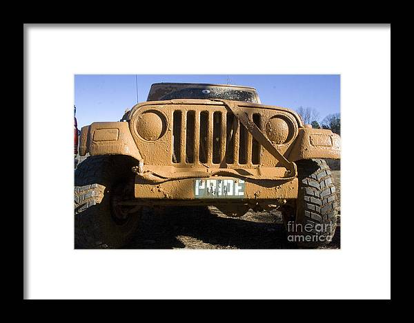 Jeep Framed Print featuring the photograph Pride by D V
