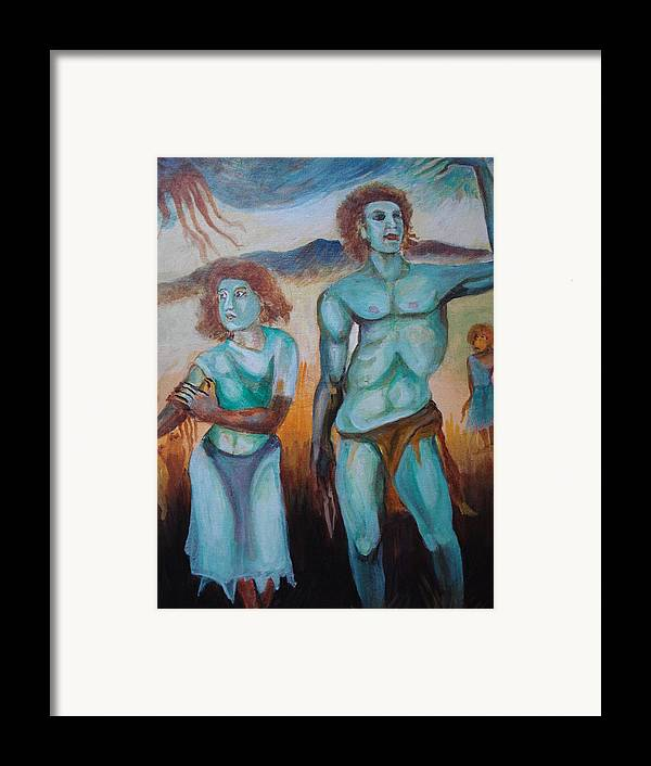 Mountain Framed Print featuring the painting Princes And Zeus by Prasenjit Dhar