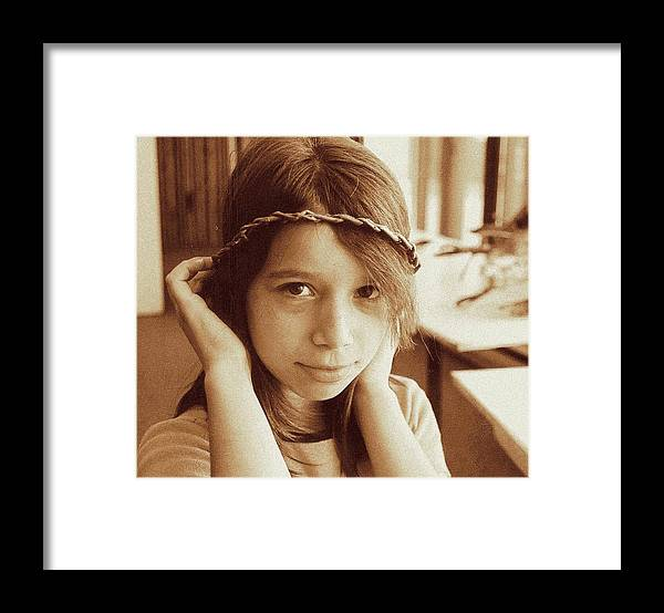 Portrait Framed Print featuring the photograph Princess by ITI Ion Vincent Danu