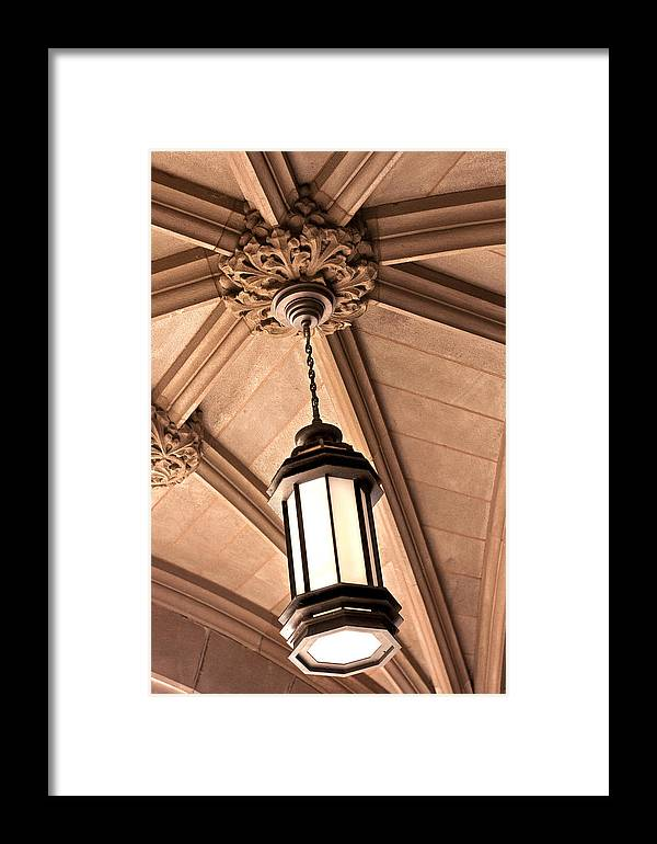 Architecture Framed Print featuring the photograph Princeton Light by Jeffrey Auger
