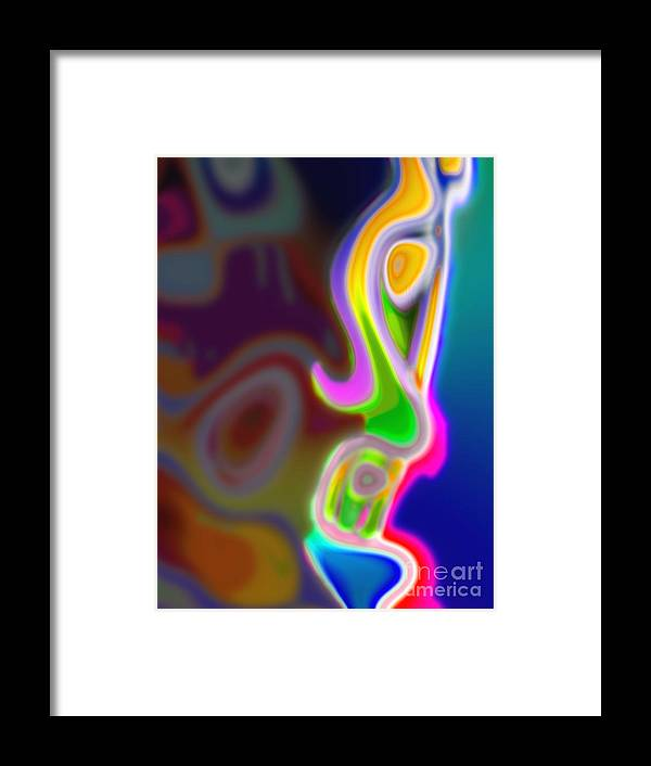 Face Framed Print featuring the digital art Profile by Tom Hubbard