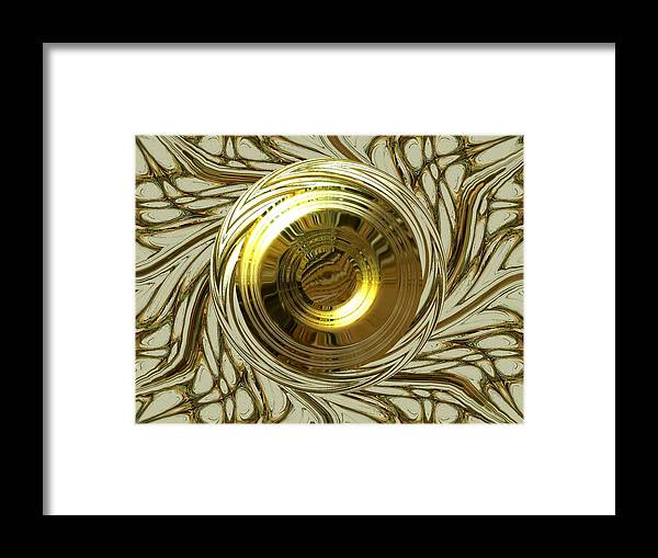 Digital Art Framed Print featuring the digital art Protheus by Beto Machado