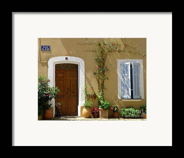 Provence Framed Print featuring the photograph Provence Door 3 by Lainie Wrightson
