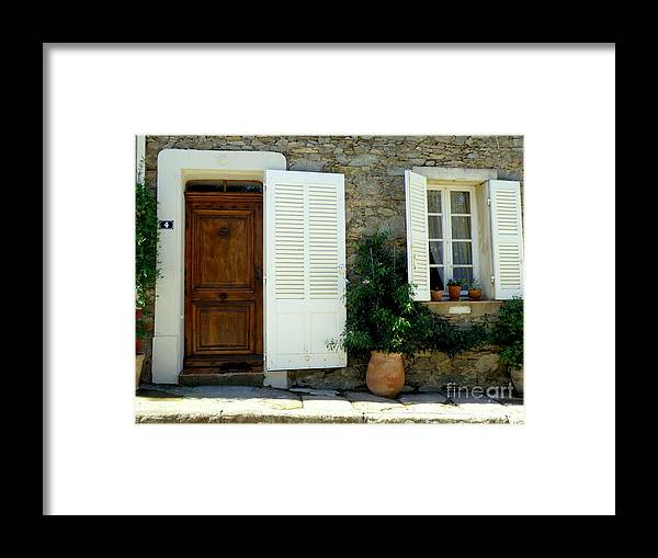 Doors And Windows Framed Print featuring the photograph Provence Door Number 4 by Lainie Wrightson