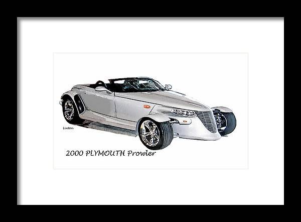 Plymouth Prowler Framed Print featuring the digital art Prowler by Larry Linton