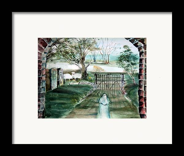 Pastoral Framed Print featuring the painting Psalm 23 by Mindy Newman