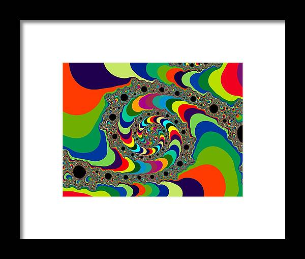 Psychedelic Framed Print featuring the digital art Psychedelic by Ester Rogers