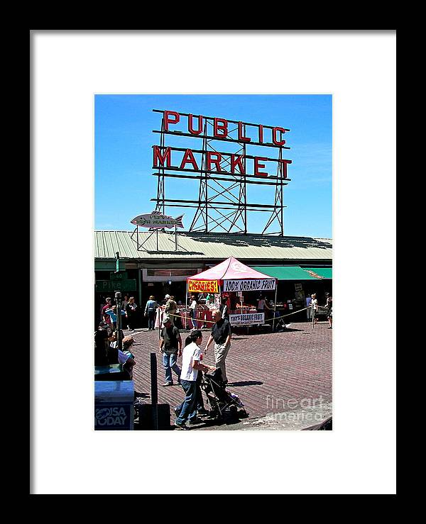 Seattle Framed Print featuring the photograph Public Market by Carol Bradley